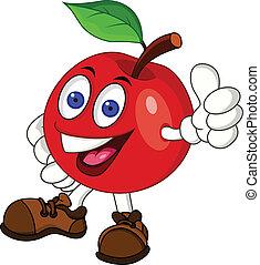 Rote-Apfel-Zeichen-Figur
