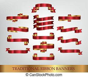 Rote Band-Banner