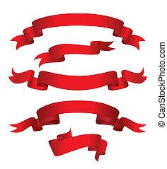 Rote Banner (vektor)