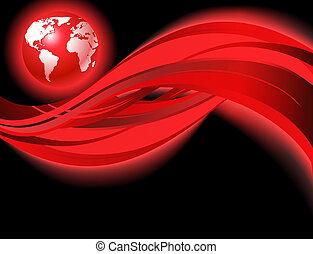 Rote Geschäftsweltkarte