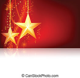 Rote goldene Weihnachten