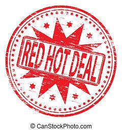 Rote heiße Ware