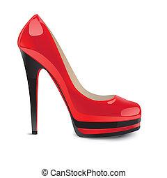 Rote High-Heelled-Schuhe