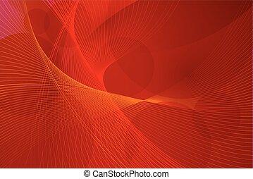 Rote Hintergrundwellenlinien
