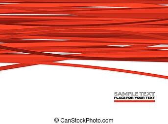 Rote Streifen.