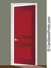 Rote Tür öffnen