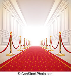 Rote Teppichpfade zur Erfolgsbeleuchtung.