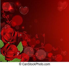 Rote Valentins-Tage sind im Hintergrund