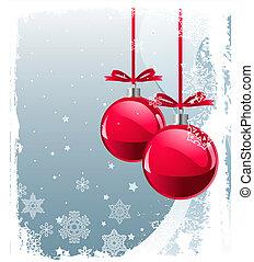 Rote Weihnachtsbälle
