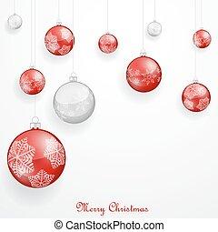 Rote Weihnachtsschmuck.