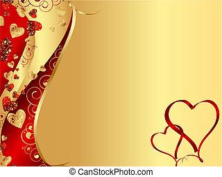 Roter, abstrakter Herzrahmen