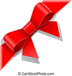 Roter Bogen mit Schleife