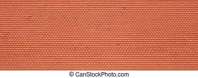 Roter Dachziegel.