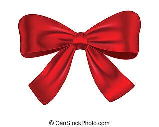 Roter Geschenkbogen