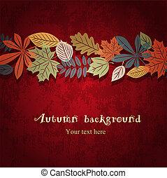 Roter Herbstvektor Hintergrund