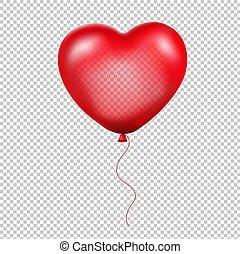 Roter Herzballon.