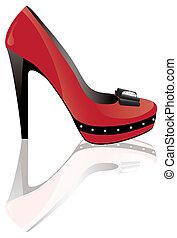 Roter High-Heel-Schuh