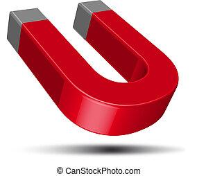 Roter Hufeisenmagnet