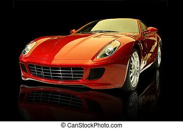 Roter Luxus-Sportwagen