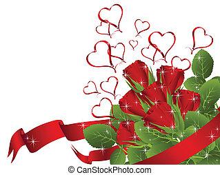 Roter Rosen Strauß