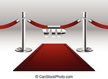 Roter Teppich mit VIP-Schild.