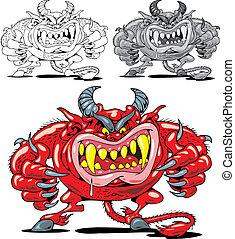 Roter Teufel aus der Hölle