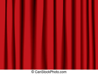 Roter Theatervorhang.