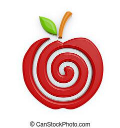 Rotes Apfelsymbol