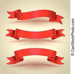Rotes Band Banner bereit