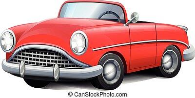 Rotes Cabrio.