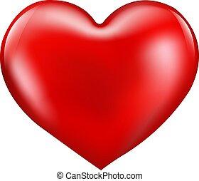 Rotes Herz isolierte Papphintergrund.