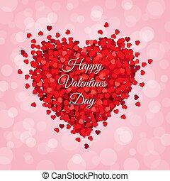 Rotes Herz isolierte rosa Hintergrund.