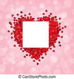 Rotes Herz rosa Hintergrund mit Banner.