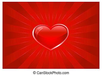 Rotes Licht brach mit Herz