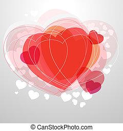 Rotes, modernes Herz auf grauem Hintergrund