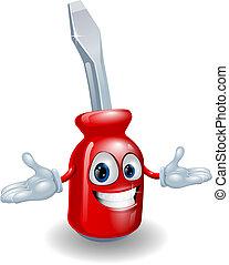 Rotes Schraubenzieher-Maskottchen