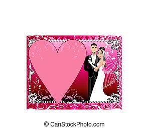 Rotes Silber Hochzeitspapier