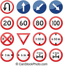 Rotes Straßenschild