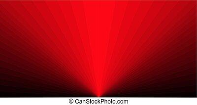 rotes , strahlen, hintergrund, form, rechteckig