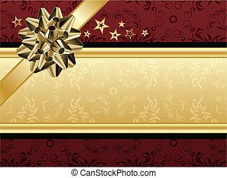 Rotes und goldenes Design