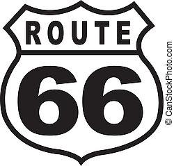 Route 66 Highway-Schild Retro Jahrgang