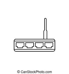 Router-Icon, Umriss.