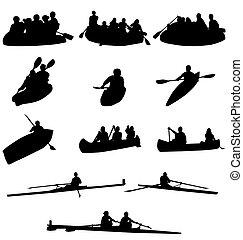 Rowing Silhouettes Sammlung