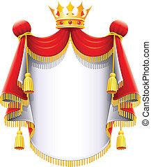 Royal majestätischer Mantel mit Goldkrone