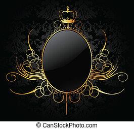 Royal Vektor Background mit goldenem Rahmen