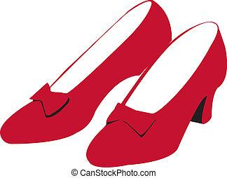 Ruby-rote Schuhe