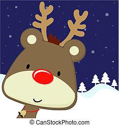 Rudolph begrüßt Weihnachtskarten.