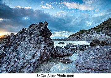 Rugged Cornwall Coast.