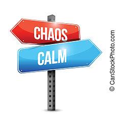 Ruhe und Chaos schildern.