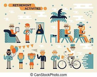 Ruhestandsaktivitäten.